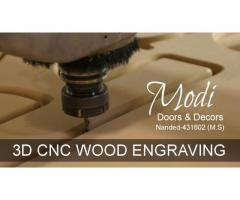 3D Wood Engraving CNC Router In Nanded