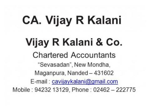 Vijay R Kalani & Co. Chartered Accountant